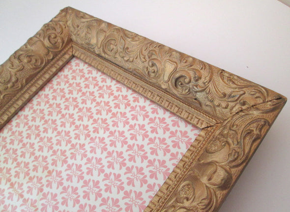 Large Ornate Vintage 11x13 Wood Gesso Frame for 8x10 photos - Late Boomer Vintage
