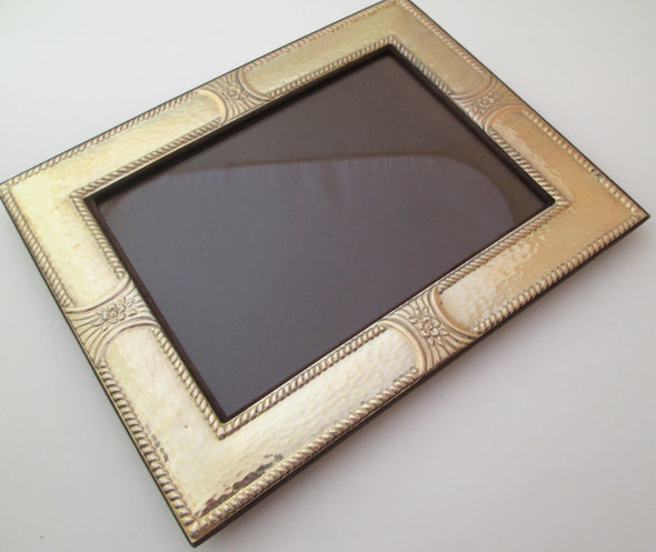 Vintage 5x7 Sterling Silver photo frame 925 hallmarked Italy hammered metal - Late Boomer Vintage