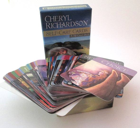 Self Care Cards by Cheryl Richardson inspirational oracle guidance 52 card set in box vintage - Late Boomer Vintage