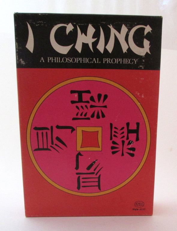 I Ching Vintage 1972 book Reiss Games Inc boxed original A Philosophical Prophecy book of changes - Late Boomer Vintage