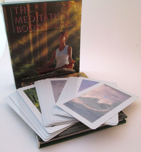 The Meditation Book and Card Pack by Eddie and Debbie Shapiro 30 card set Vintage 2000 - Late Boomer Vintage