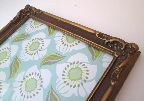 10x13 frame Vintage Ornate Wood Photo Frame Boho decor country cottage