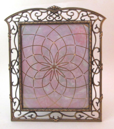 Vintage 11x13 picture frame for 8x10 photos cast metal boho Art Deco style