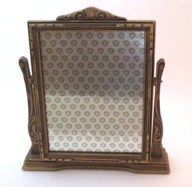 Vintage 1920s Art Deco 7x9 swing frame wooden table top picture frame boho decor