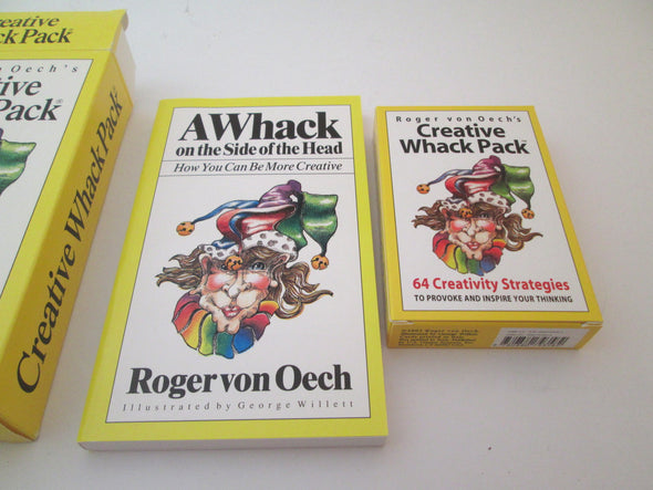 Creative Whack Pack Card Set and Book Success Edition Vintage 1992 Roger von Oech powerful thinking tools - Late Boomer Vintage