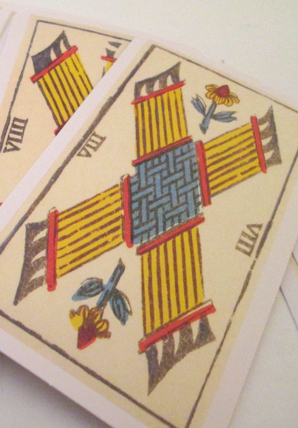 78 Card Tarot Deck French traditional design vintage