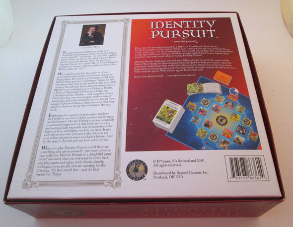 Identity Pursuit board game Vintage 2010 NEW find yourself archetypes Caroline Myss