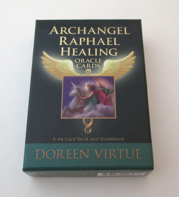 Archangel Raphael Oracle Cards by Doreen Virtue angel cards and book - Late Boomer Vintage
