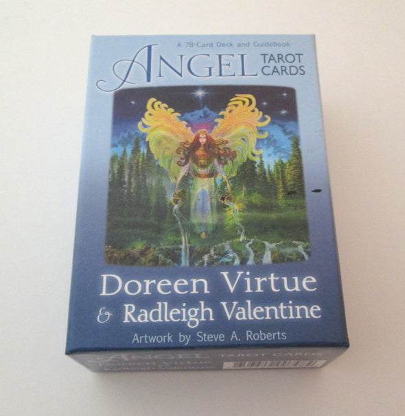 Angel Tarot Cards Oracle Cards by Doreen Virtue and Radleigh Valentine angel cards and book - Late Boomer Vintage