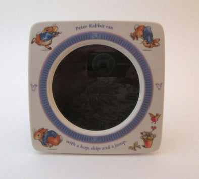 Vintage Wedgwood Peter Rabbit ceramic picture frame for 4x4 photos Beatrix Potter nursery decor frame - Late Boomer Vintage