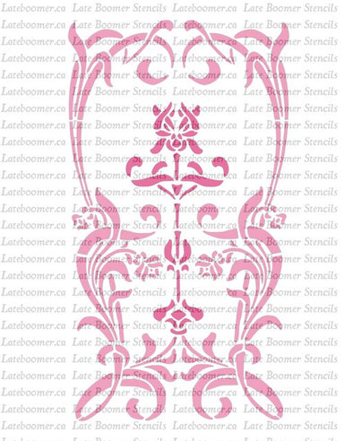 Art Nouveau Decorative Panel Stencil, wall decor reusable Mylar Painting Stencil airbrushing - Late Boomer Vintage