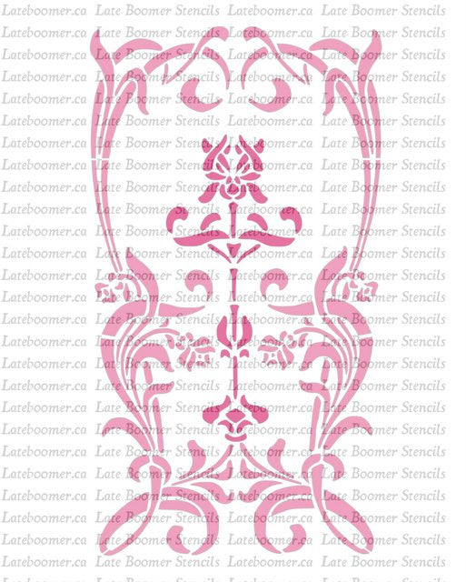 Art Nouveau Decorative Panel Stencil, wall decor reusable Mylar Painting Stencil airbrushing