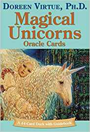 Magical Unicorns Oracle Cards by Doreen Virtue 44 card deck and book