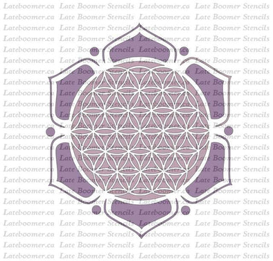 Flower Of Life Flower Reusable Craft Stencil, Sacred Geometry Mandala Ancient Symbols Mylar Stencil airbrushing - Late Boomer Vintage