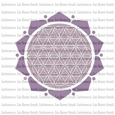 Flower Power Flower Of Life Reusable Craft Stencil, Sacred Geometry Mandala Ancient Symbols Mylar Stencil airbrushing - Late Boomer Vintage