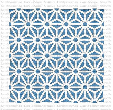 Art Deco Style Repeating Tile Stencil, reusable craft Mylar painting stencil for floors or walls - Late Boomer Vintage