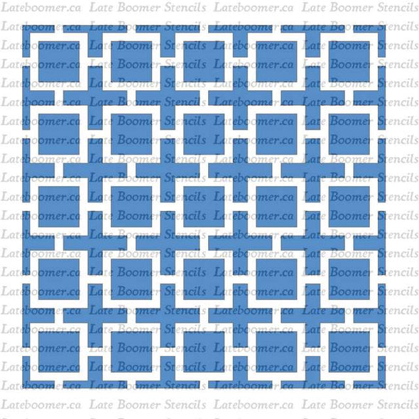 Greek Key Style Repeating Tile Stencil, reusable craft Mylar painting stencil for floors or walls - Late Boomer Vintage