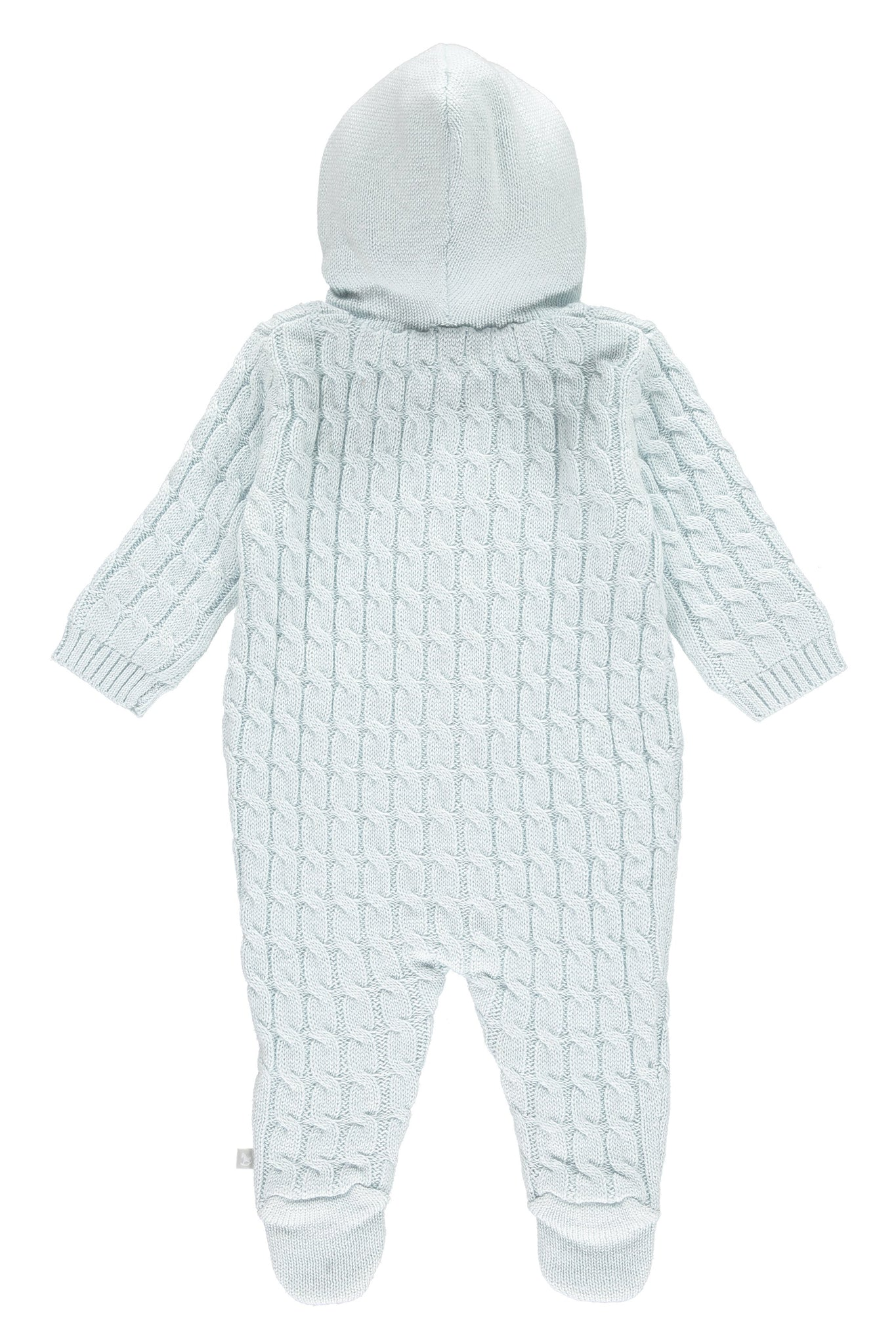 Soft Blue Lined Pramsuit
