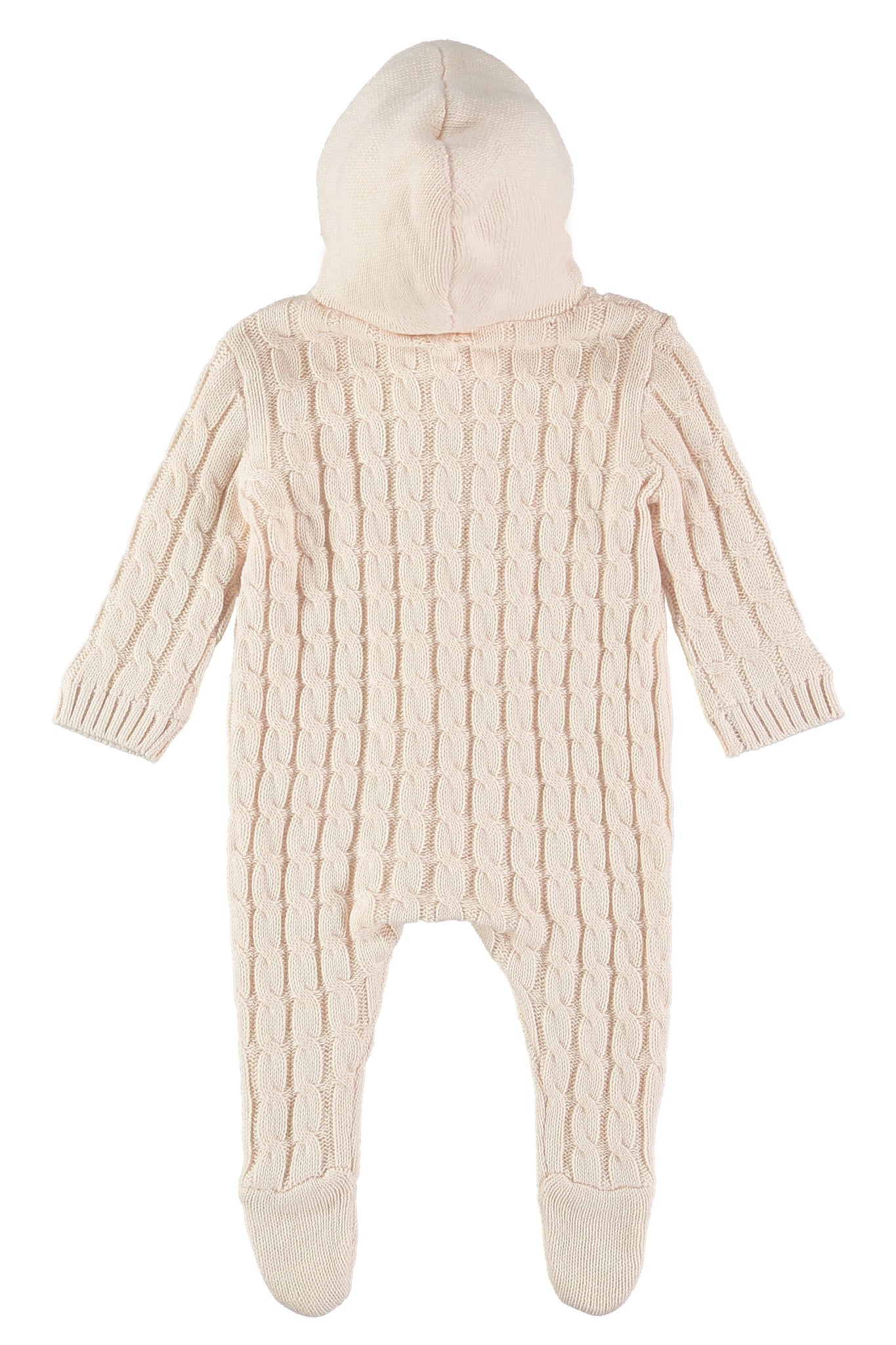 Soft Pink Lined Knitted Pramsuit