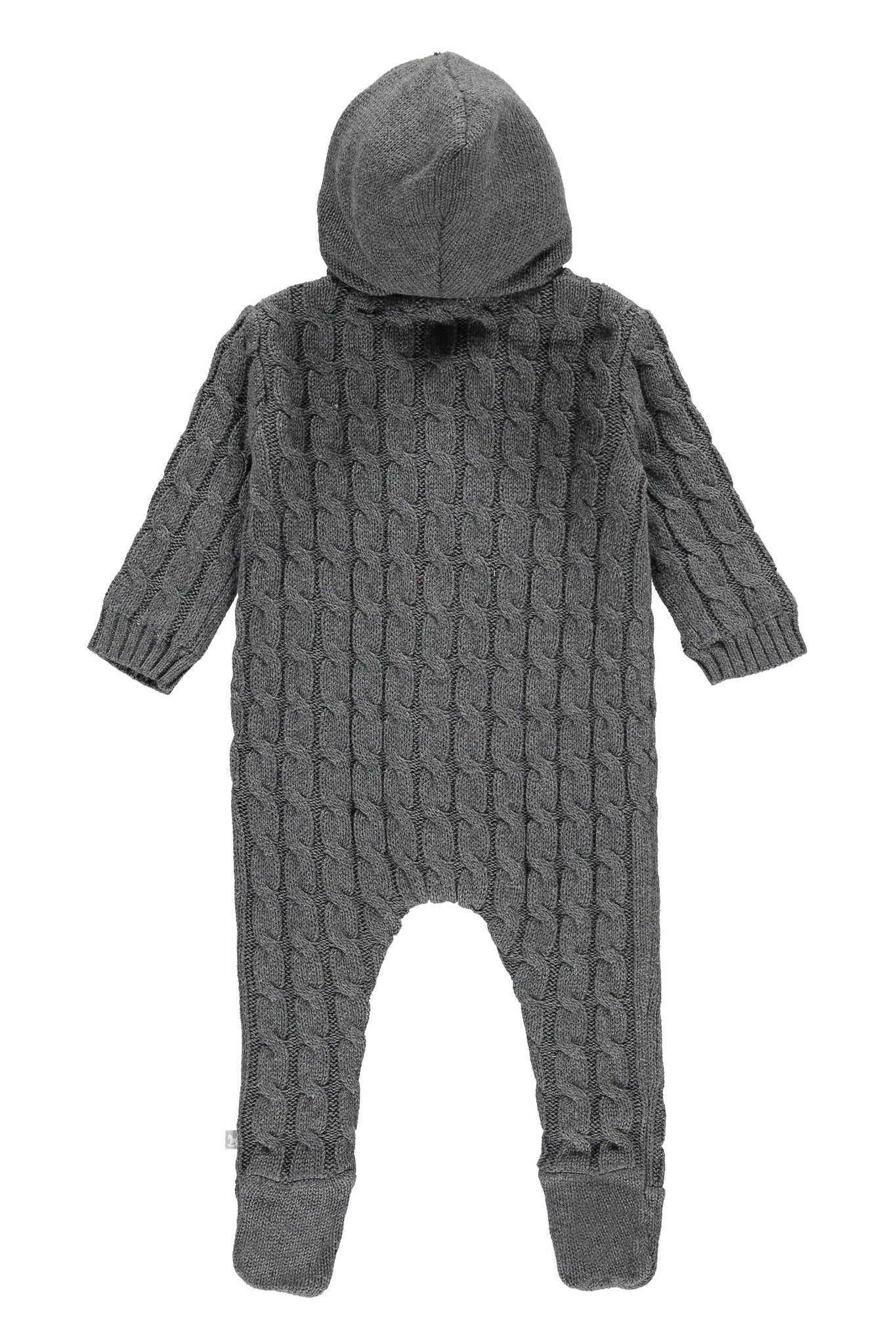 Charcoal Lined Knitted Pramsuit