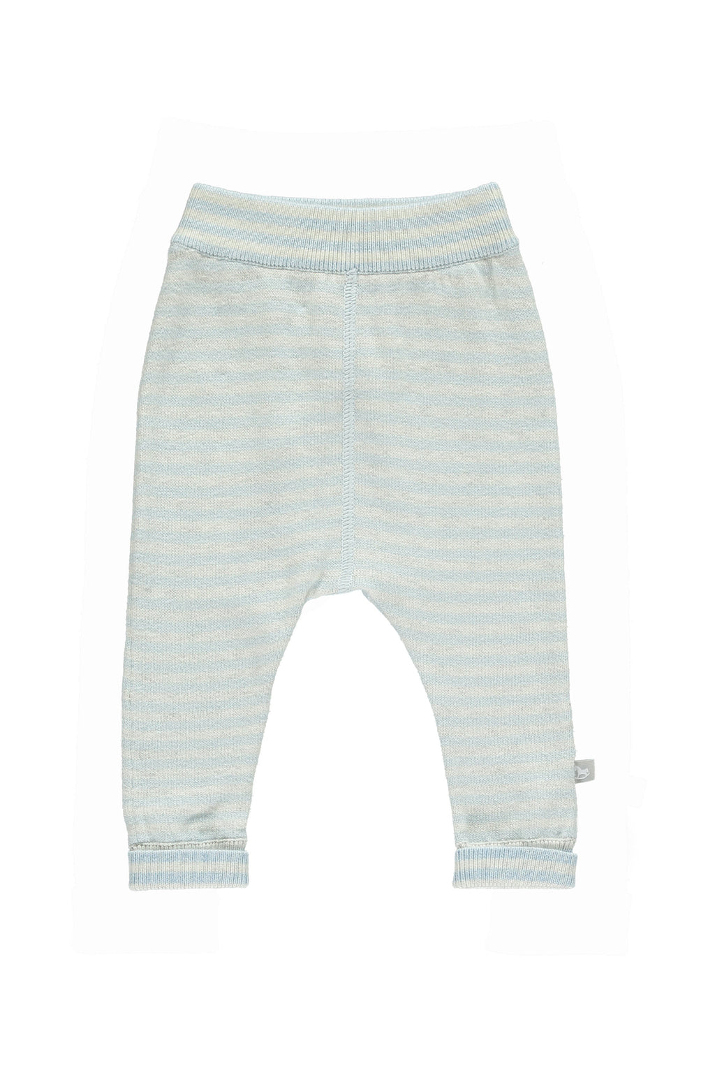 Blue Stripey Cotton Cashmere Mix Pant