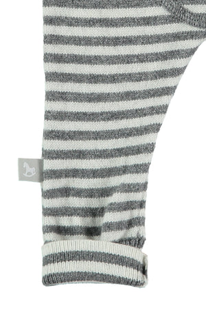 Charcoal Stripey Cotton Cashmere Mix Pant
