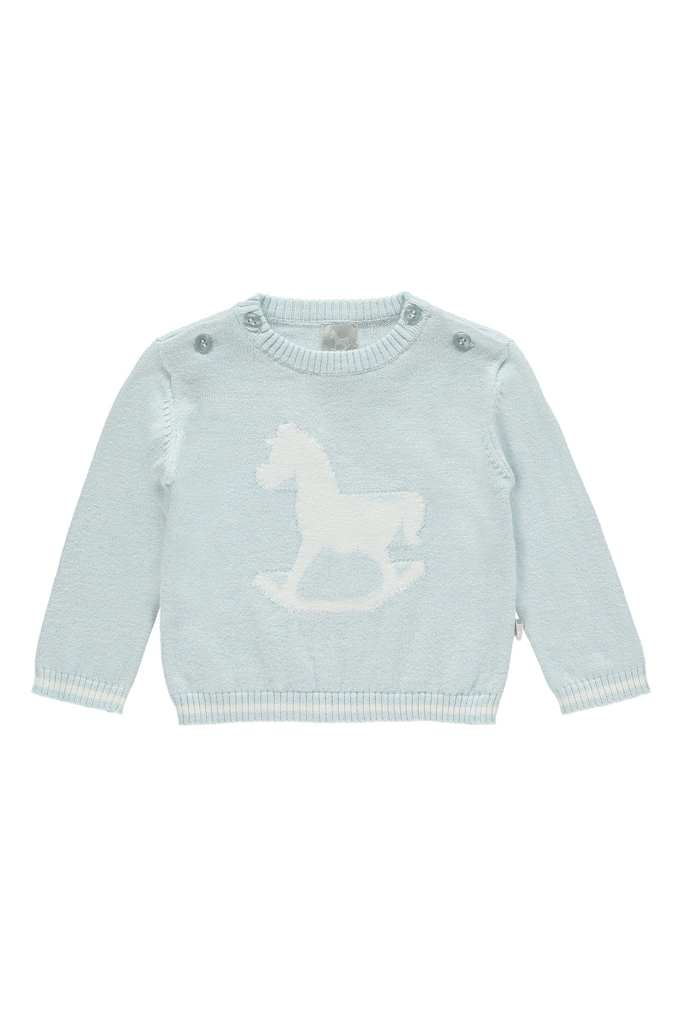 Soft Blue Rocking Horse Jumper
