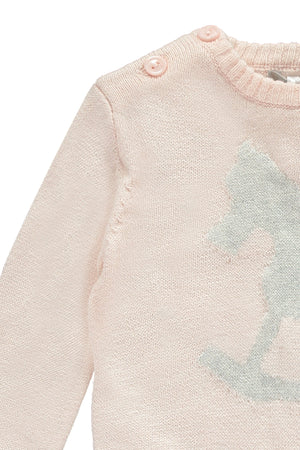 Soft Pink Rocking Horse Jumper