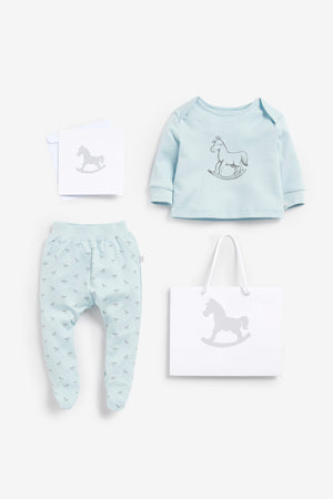 Top And Pant, Luxury Gift bag and card included - blue