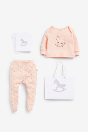 Top And Pant Set, Luxury Bag and Card included - pink