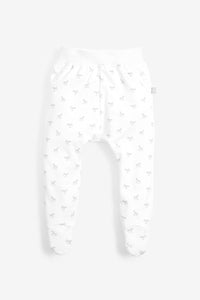 Comfy Rocking Horse Print Pant - white