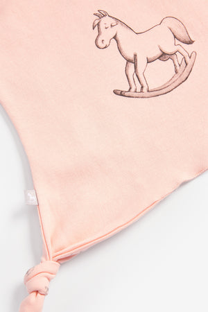 Super Soft Jersey Sleep Suit, Hat And Comforter Gift Set- pink