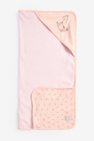 Reversible Soft Jersey Blanket - pink