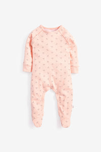 Super Soft Jersey Sleepsuit - pink