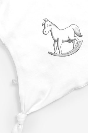 Super Soft Rocking Horse Comforter - white