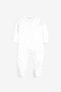 Super Soft Jersey Sleepsuit - white