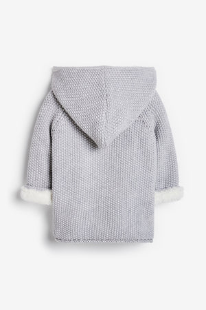 Grey Pram Coat Plush Lined