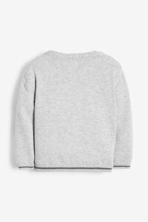 Grey Cotton Rocking Horse Jumper