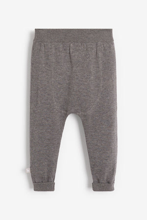 Charcoal Cotton Knitted Pants