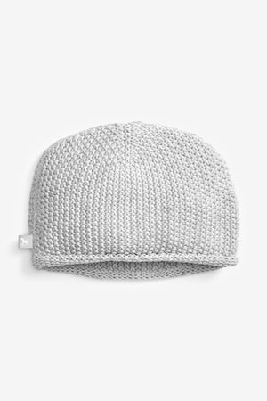 Grey Cotton Knitted Hat