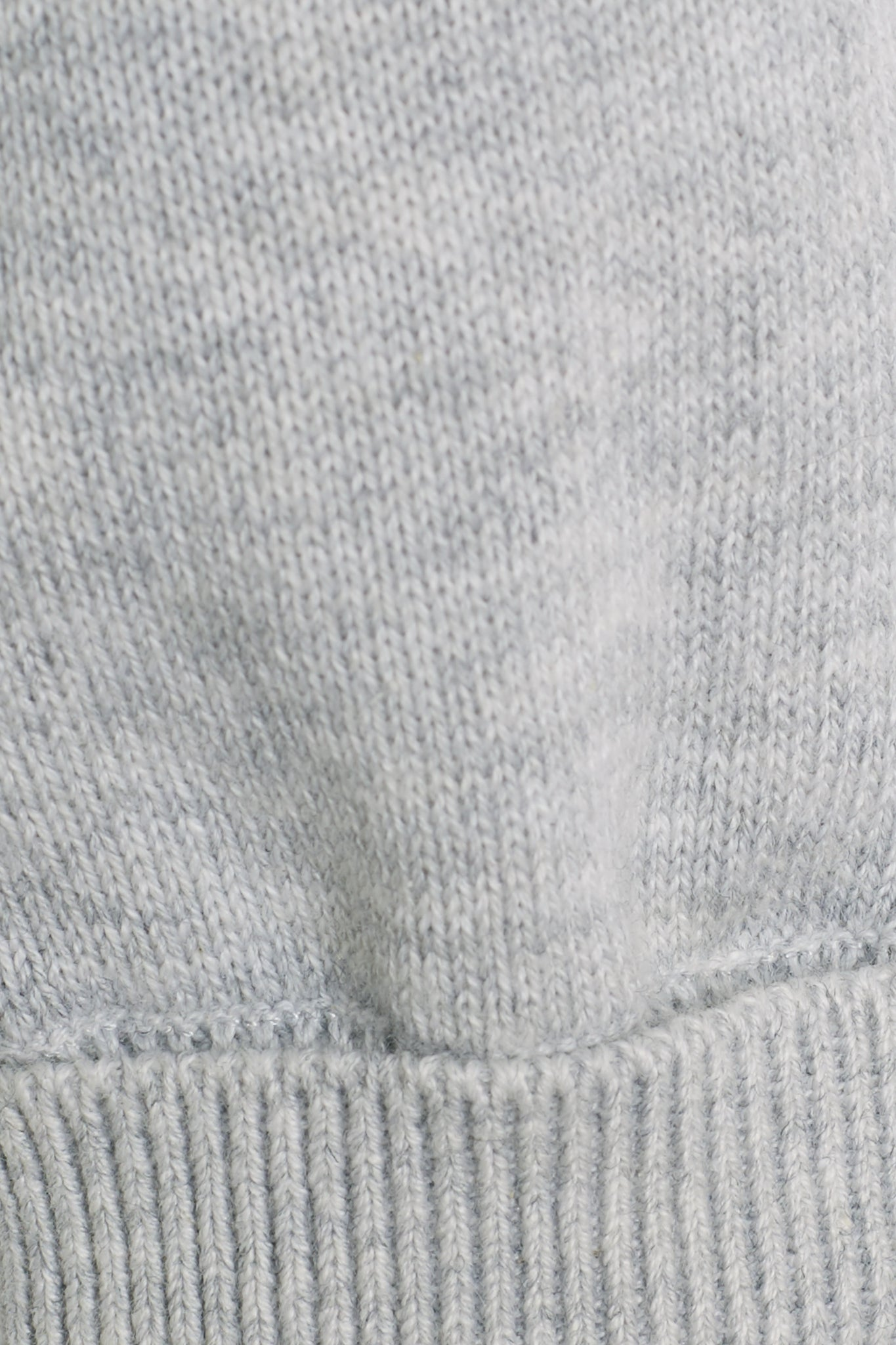 Grey Cotton Knitted Pants