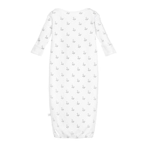 White Rocking Horse Jersey Long Nightie