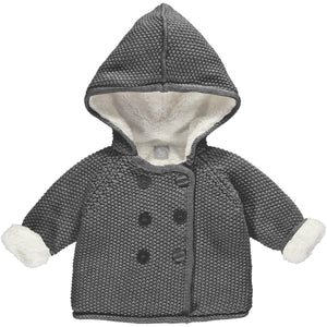 Charcoal Pram Coat Plush Lined