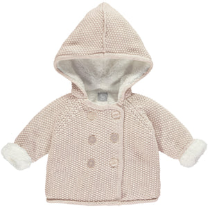 Soft Pink Pram Coat Plush Lined