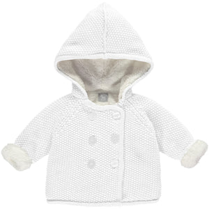 White Pram Coat Plush Lined