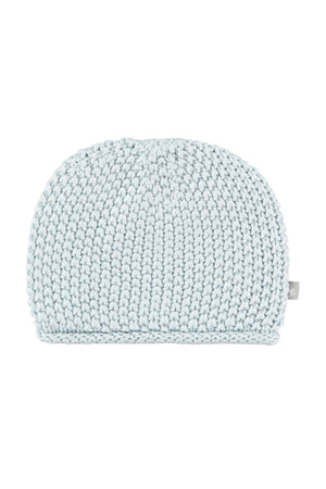 Soft Blue Cotton Knitted Hat