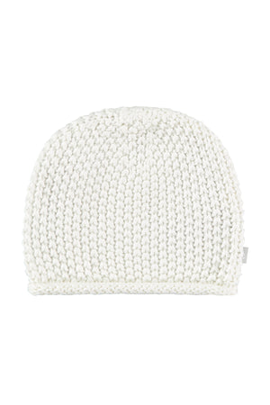 Cream Cotton Knitted Hat
