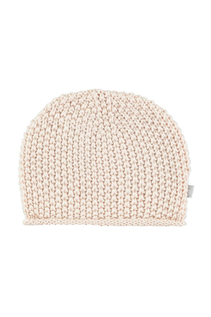 Soft Pink Cotton Knitted Hat