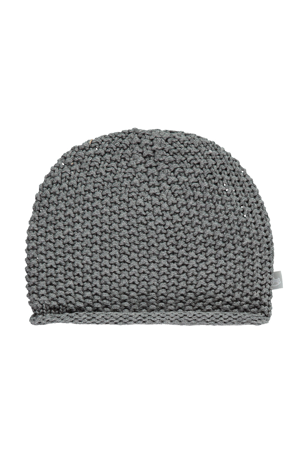 Charcoal Cotton Knitted Hat