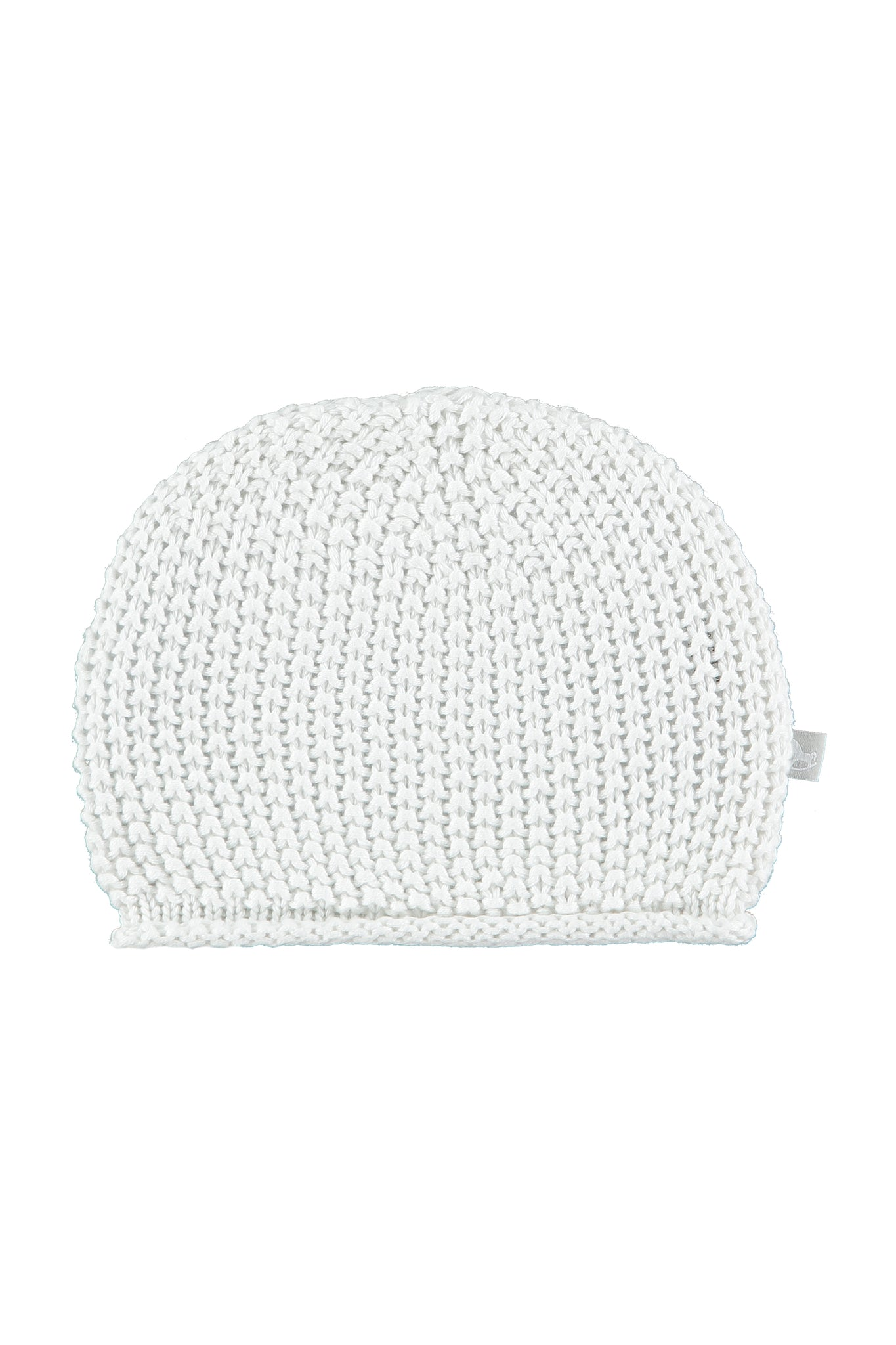 White Cotton Knitted Hat